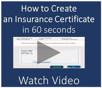 create an insurance certificate - how to video
